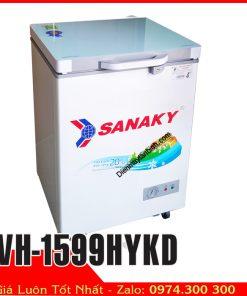 Tủ đông Sanaky VH-1599HYKD 100 lít (Nắp ốp kính)