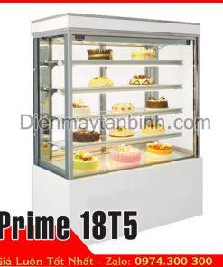 tủ bánh kem 5 tầng 1m8 đá màu trắng