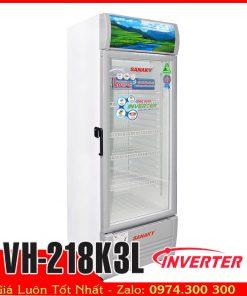 tủ mát 200 lít sanky inverter tiết kiệm điện