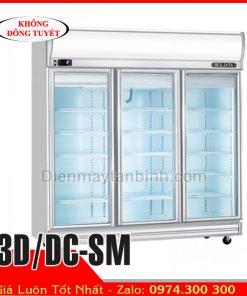 Tủ mát inox 3 cánh kính BERJAYA 3D/DC-SM || Tủ mát trưng bày