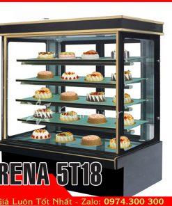 tủ bánh kem 5 tầng dài 1m8 giá rẻ