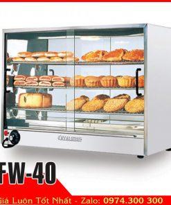 tủ hâm nóng bánh thức ăn tự chọn mini BERJAYA FW-40