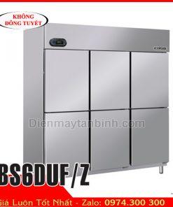 Tủ đông 6 cánh inox Berjaya BS6DUF/Z || Tủ đông công nghiệp