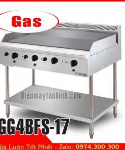 Bếp chiên bề mặt dùng gas có chân đứng Berjaya GG4BFS-17