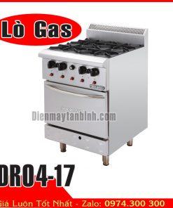 Bếp âu 4 họng có lò nướng dùng gas DRO4-17
