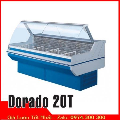 tủ mát kính cong trưng bày thịt heo Dorado 20T