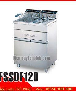 Bếp chiên nhúng đôi dùng điện berjaya FSSDF12D