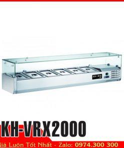 tủ mát trưng bày chè topings salad KH-VRX2000