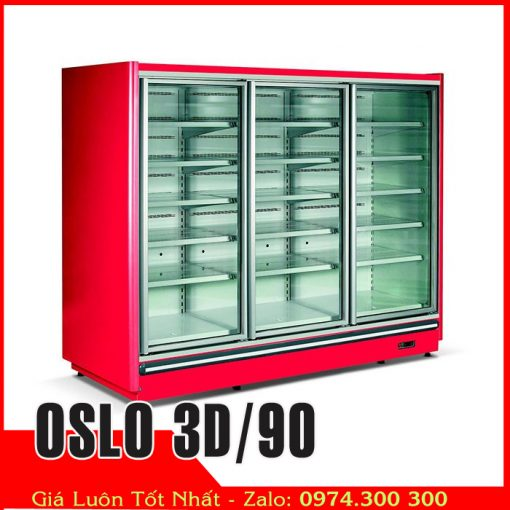 Tủ đông cửa kính siêu thị OSLO 3D-90