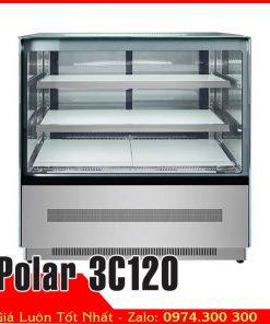 Tủ mát bánh kem sinh nhật 3 tầng 1m2 Polar 3C120
