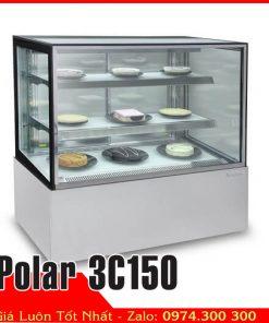 Tủ mát 3 tầng kính vuông 1m5 bánh kem sinh nhật