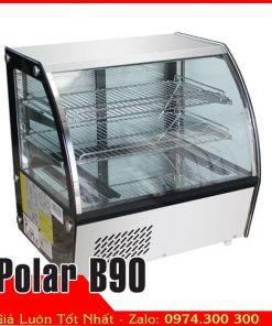 tủ mát mini đặt trên bàn quán cafe trà sữa Polar B90