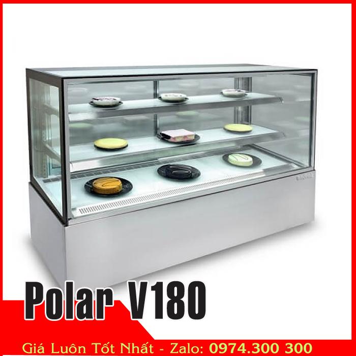 Tủ mát 4 mặt kính trưng bày thực phẩm Polar V180
