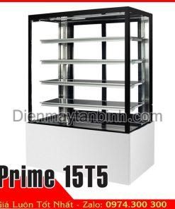 tủ bánh kem 5 tầng 1m5 4 mặt kính đá màu trắng