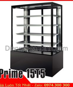 tủ bánh kem 5 tầng 1m5 4 mặt kính