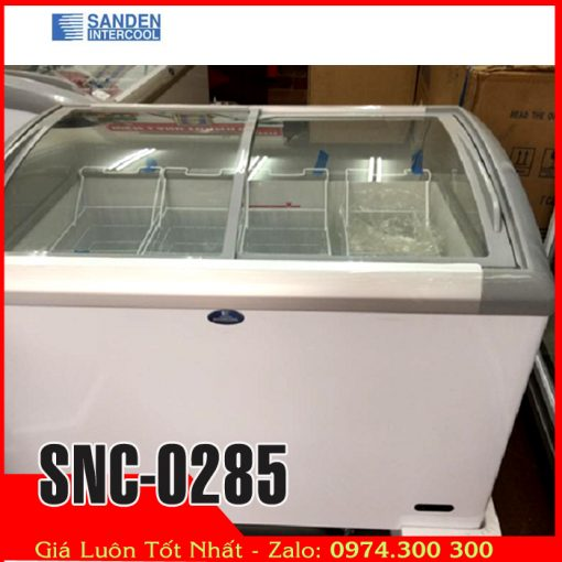 tủ đông kính cong Sanden intercool SNC-0285 thái lan