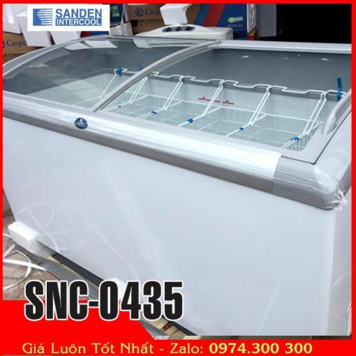 tủ đông kem kính cong 430 lít Sanden intercool SNC-0435