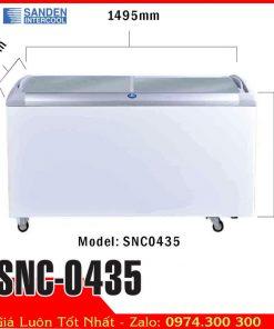 tủ đông kem kính cong sanden intercool SNC-0435
