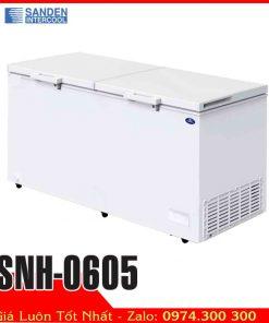 tủ đông 600 lít 2 nắp mở Sanden intercool SNH-0605