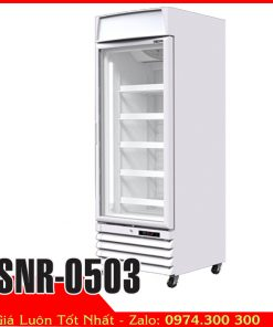 Tủ đông đứng 500 lít cửa kính trưng bày thực phẩm đông lạnh Sanden SNR-0503