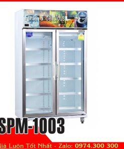 Tủ mát trưng bày hoa tươi ướp nước ngọt bia lạnh Sanden intercool SPM-1003