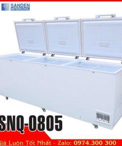 tủ đông 1000 lít 3 cửa mở Sanden SNQ-0805