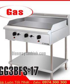 Bếp chiên bề mặt dùng gas có chân đứng berjaya GG3BFS-17