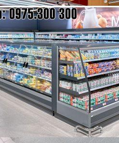 tủ mát siêu thị carrier thực phẩm