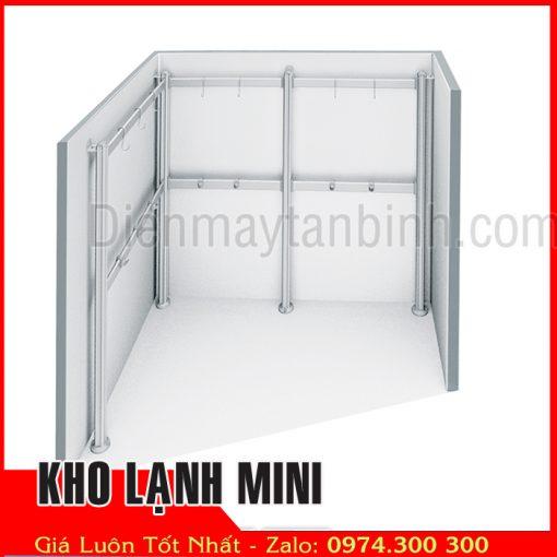 giá móc treo đồ bên trong kho lạnh mini