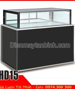 tủ mát 4 mặt kính 1 tầng trưng bày bánh ngọt gato socola bánh kem