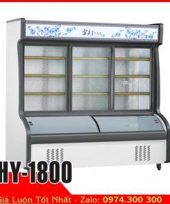 Tủ mát xiên que tự chọn thực phẩm HY-1800 (Trên mát dưới đông)