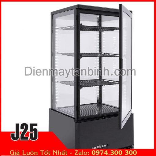 tủ mát 4 mặt kính trưng bày thực phẩm nước ngọt