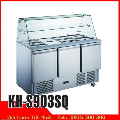 Tủ mát có khay trưng bày chè, toping kh-s903sq