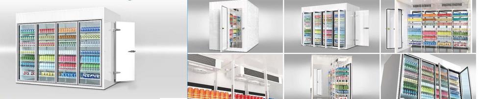 kho lạnh kính trưng bày thực phẩm