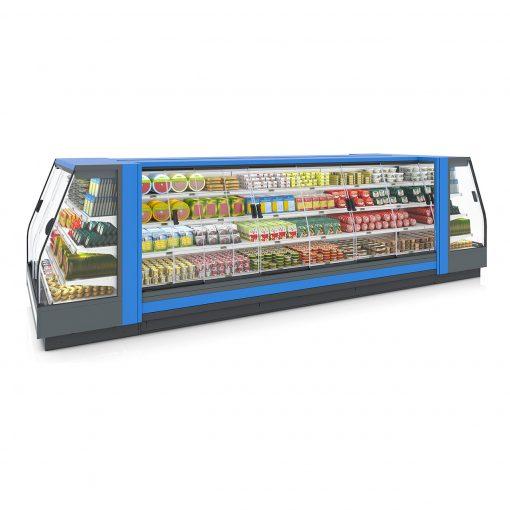 tủ mát siêu thị ghép nối thực phẩm