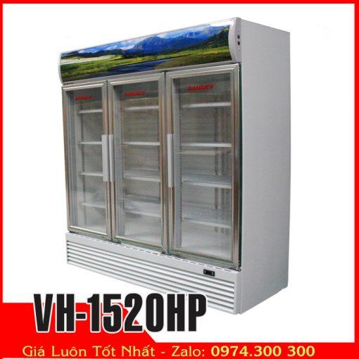 tủ mát 1500 lít 3 cửa kính sanaky vh-1520hp