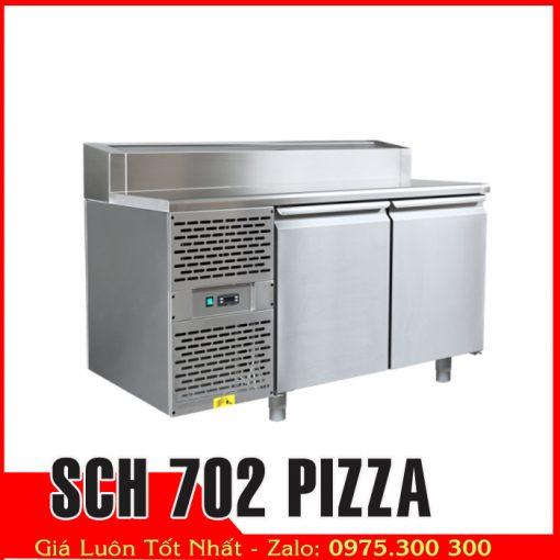 tủ bàn mát inox có khay chế biến sch-702