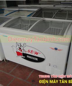 tủ đông kem kính cong cũ alaska 300 lít