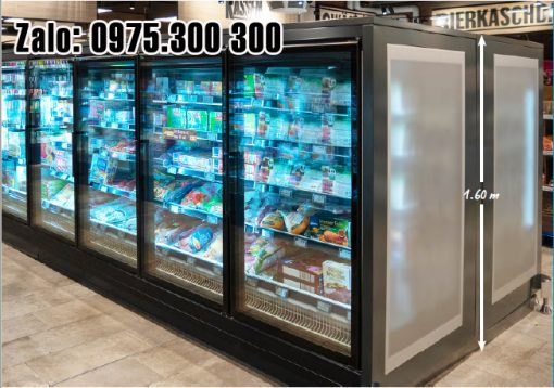 tủ đông trưng bày thực phẩm siêu thị