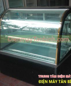 Tủ mát kính cong trưng bày bánh kem cũ dài 1,2m