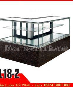 tủ mát trưng bày bánh quầy bar góc vuông L