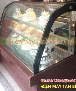 tủ bánh kem kính cong đài loan cũ