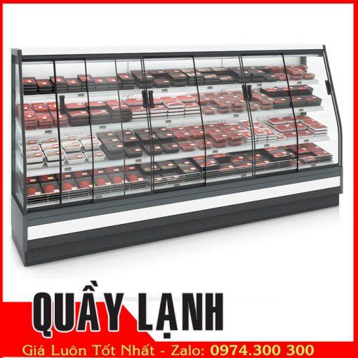 tủ mát trưng bày thịt heo Carrier