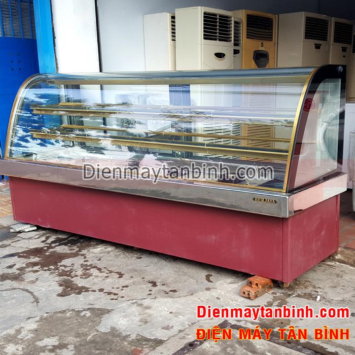 Tủ mát kính cong bánh kem Berjaya dài 2,4m