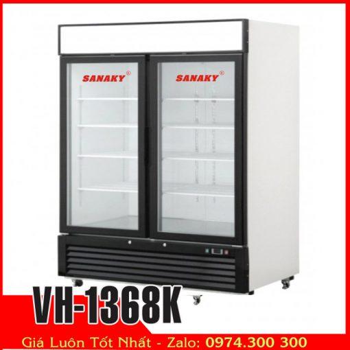 Tủ đông đứng 1000 lít cửa kính Sanaky vh-1368k