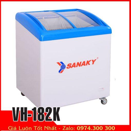 Sanaky VH-182K | Tủ đông kem kính cong mini nhỏ