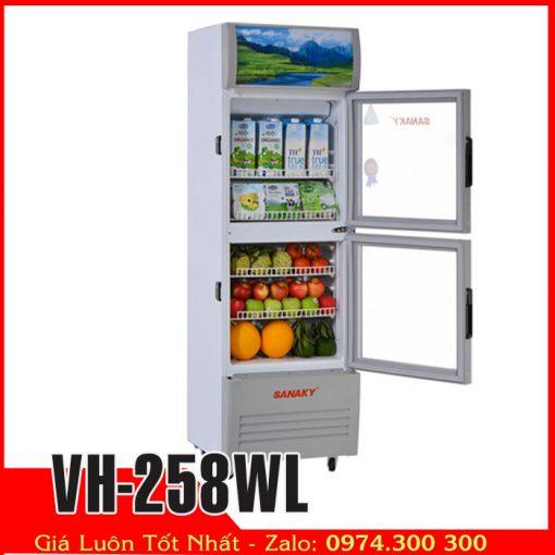 Tủ mát sanaky trưng bày nước ngọt VH-258WL