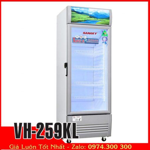 tủ mát dàn lạnh ống đồng trưng bày nước vh-259KL