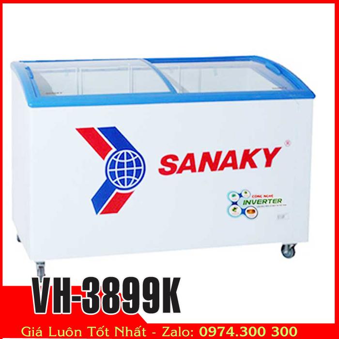 Tủ đông kem kính cong sanaky