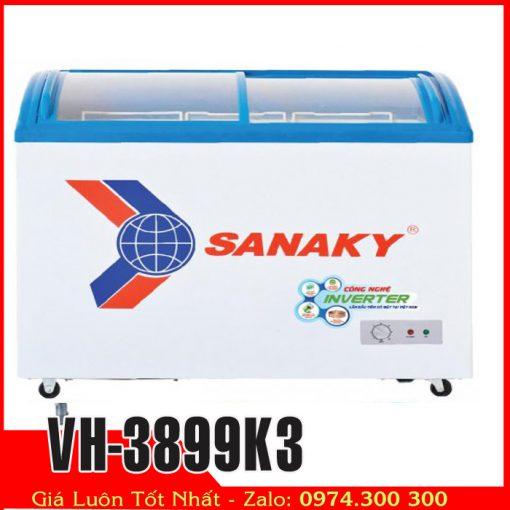Tủ đông kính cong sanaky inverter tiết kiệm điện